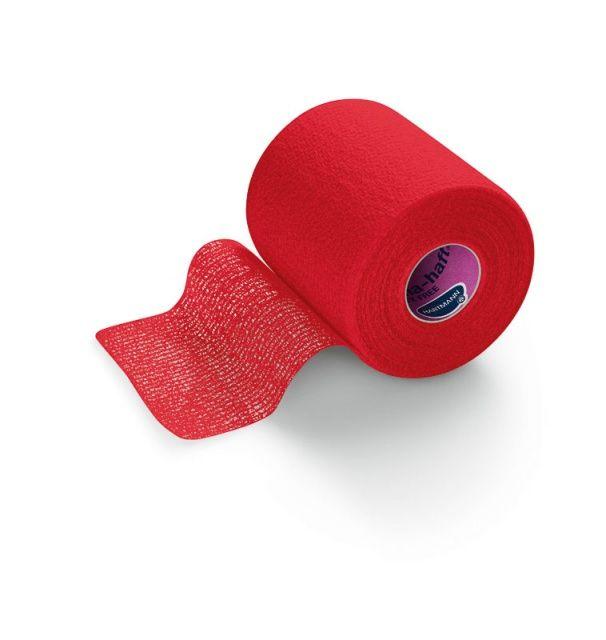 Peha-haft-самофиксирующийся бинт 4 м х 8 см, красный